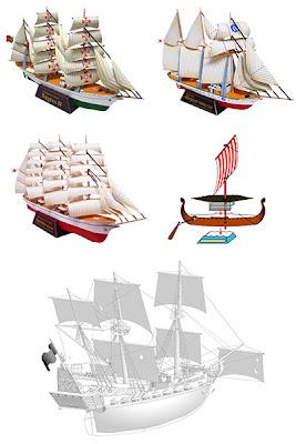 Чертежи кораблей из бумаги