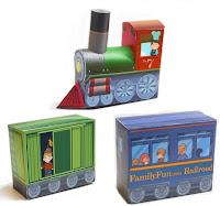 Бумажная модель паровоза для детей