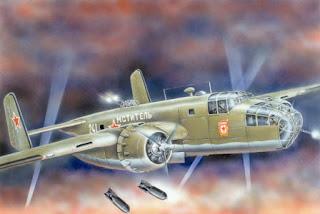 бумажная модель Средний бомбардировщик Б-25 С/Д Митчел, США, WWII
