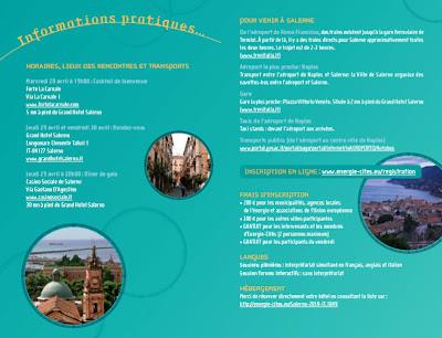 rogramme Rendez-vous annuel d'Energie-Cités Salerno