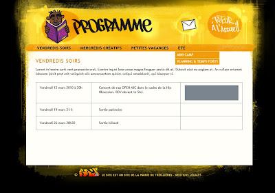 Site internet SAJ Treillières