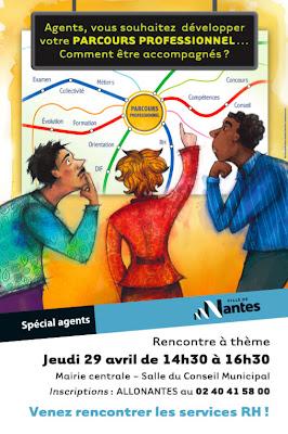 Affiche Rencontre à thème Ville de Nantes Parcours des agents