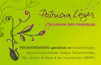 Carte de visite psychothérapeute Patricia Léger