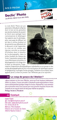Une page art et médias du guide associatif de l'Atelier des Initiatives