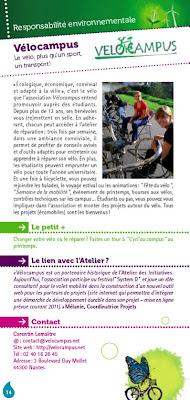 Une page responsabilité environnementale du guide associatif de l'Atelier des Initiatives