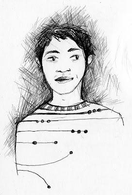 dessin jeune asiatique