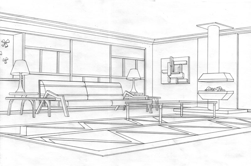 Gallery For gt Living Room Drawing Design