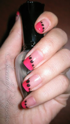 Nail Art Tutorial: Pink + Black Designs