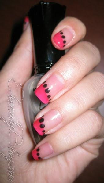 Ebeautyblog Nail Art Tutorial Pink Black Designs