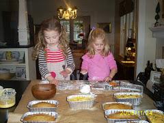 making gingerbread squirrels