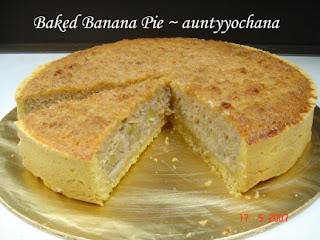 Baked Banana Pie