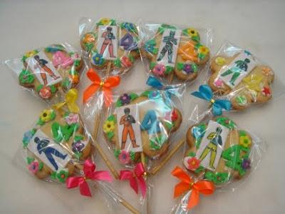 Yochana's Cake Delight! : Power Ranger Cookies
