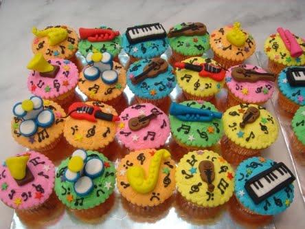 Yochana S Cake Delight Musical Instrument Cupcakes