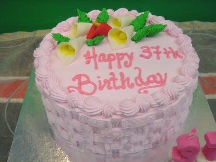 Yochanas Cake Delight 37th Birthday Cake
