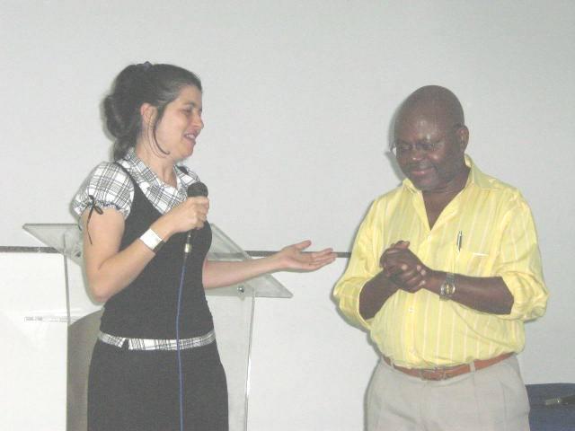 Marisa Lopes e Prof. Pedro