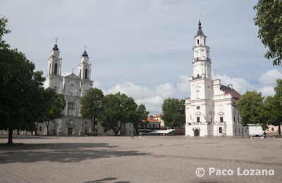 Main Square in Kaunas, Lithuania