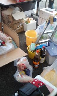 滋賀県身体障害者福祉協会 第19回夏祭り準備中