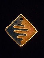 colgante rombo esmaltado   Colgante bicolor con esmaltes