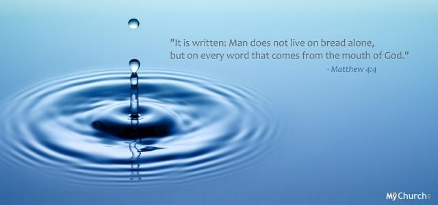 Blue color desktop background verses from the bible Image