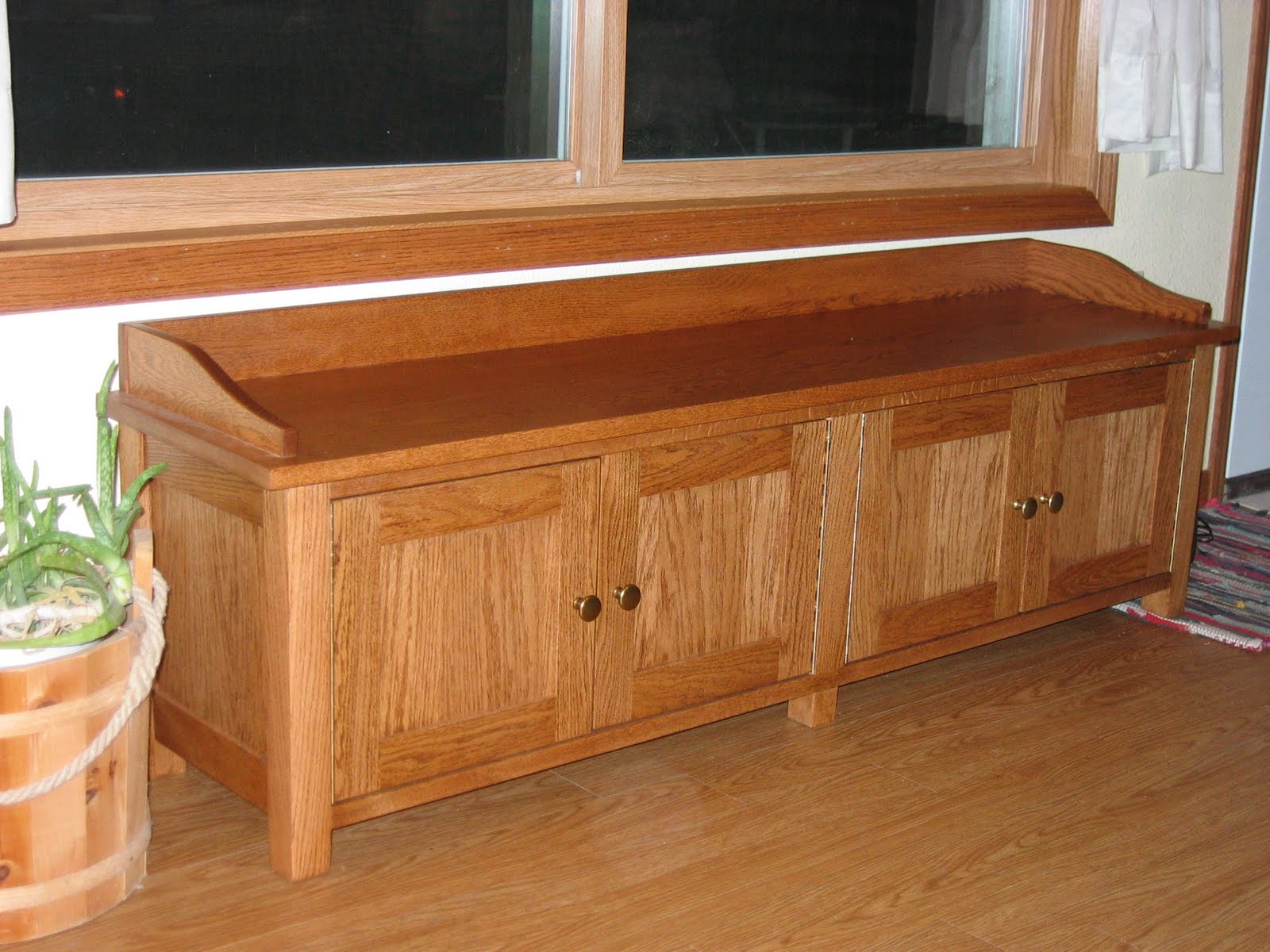 Tom kies woodworks custom made oak window bench Oak bench