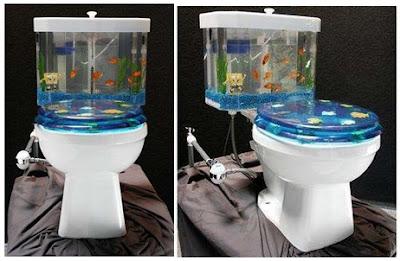 Fish N Flush Toilet And Aquarium