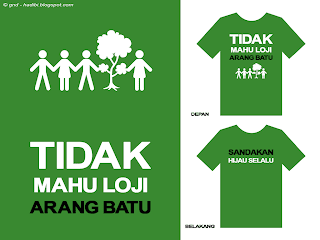 Anti Coal Plant Malay T-Shirt