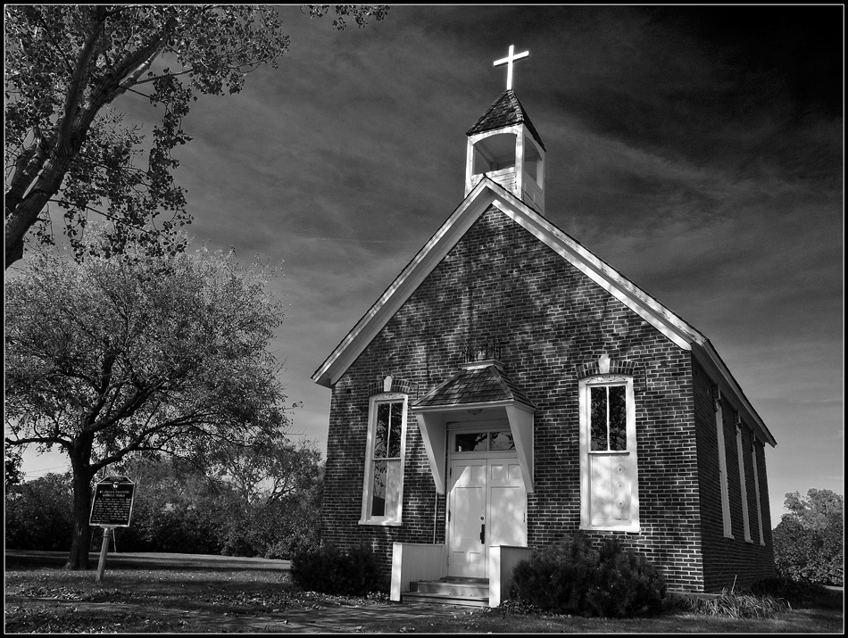 ... a photograph of the St. Juliana Falconieri Catholic Church in Red Cloud.