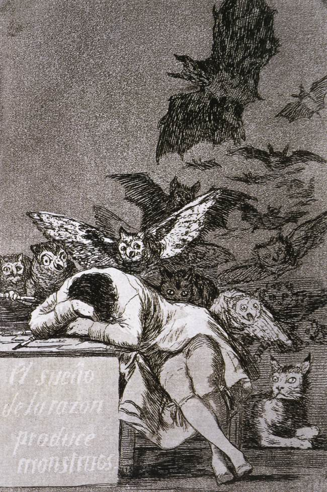 etching by Francisco Goya