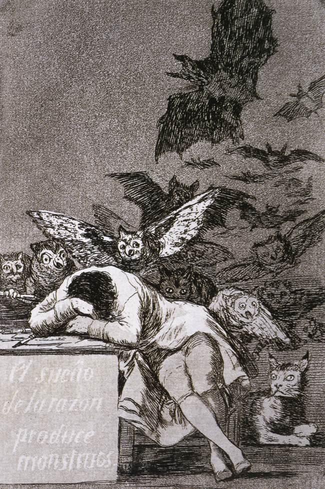 etching by Francisco Goya