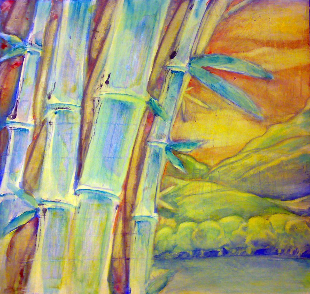 Bamb acr licos y tinta sobre tabla imprimada for Color bambu pintura