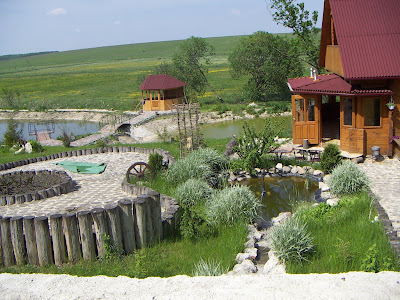 Backyard of Sadyba Restaurant, Ternopil region