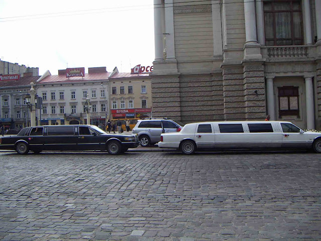 Western Ukraine: Limos By The Lviv Opera House