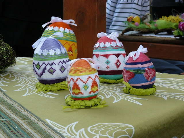 Cross Stitched Easter Eggs Poland