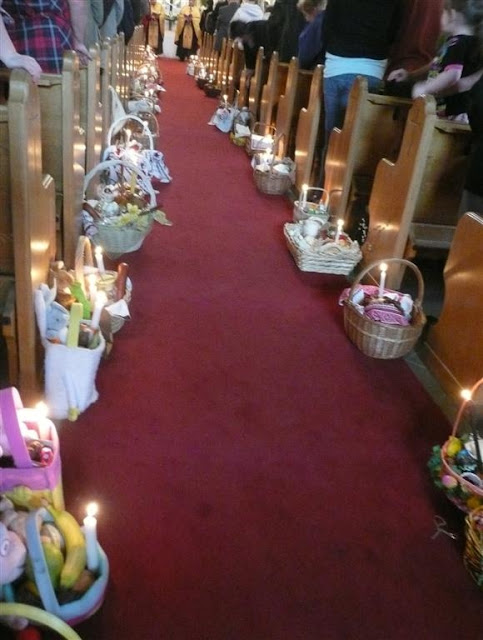 Blessing Easter Baskets Ukrainian Church Edmonton Canada