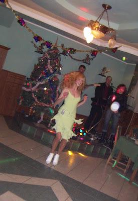 Beautiful Girl Dancing Volodar Restaurant Ternopil City Ukraine
