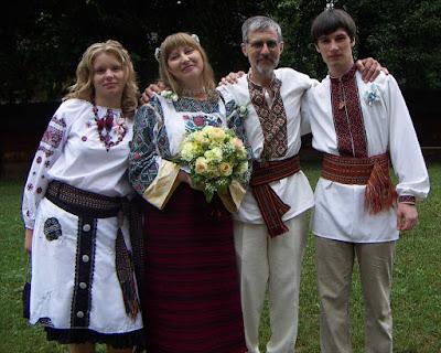 Ukrainian Wedding Bride Groom Bridesmaid Groomsman