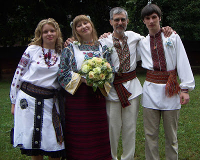 Ukrainian Wedding Bride Groom Bridesmaid Groomsman