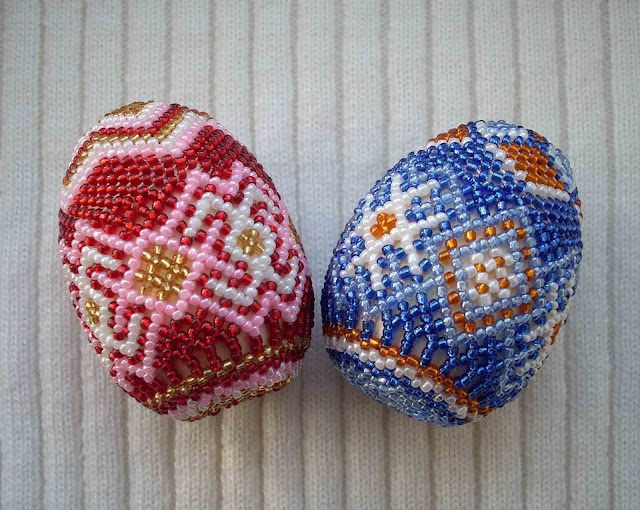 Beaded Easter Eggs Ukrainian