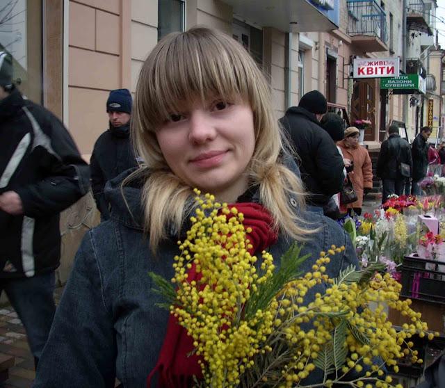 Beautiful Ukrainian Girl March 8 Mimosas