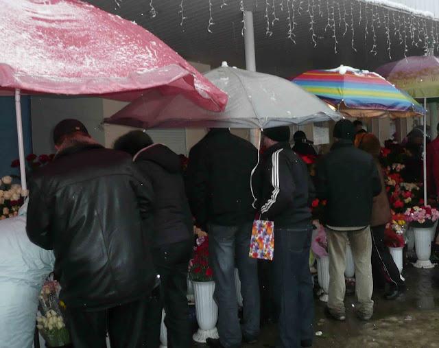 Ukraine March 8 Men Are Hitting Flowers Market