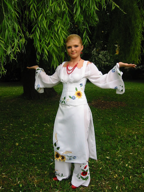 High School Graduation Ternopil Ukraine Beautiful Girl Embroidered Outfit