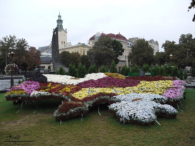 Floral Map Of Ukraine Lviv Independence Day