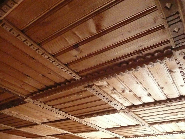 Wooden Ceiling Of House carpathian Mountains Western Ukraine