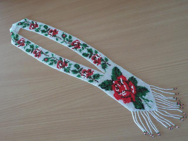 Beaded Necklace Gerdan Made In Western Ukraine