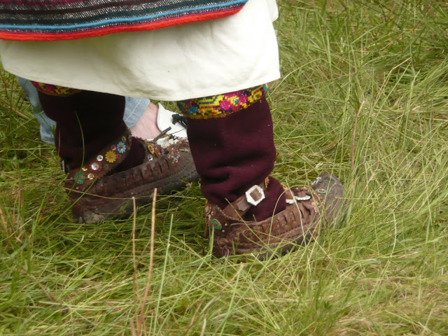 Traditional Womens Footwear Ukrainian Carpathians