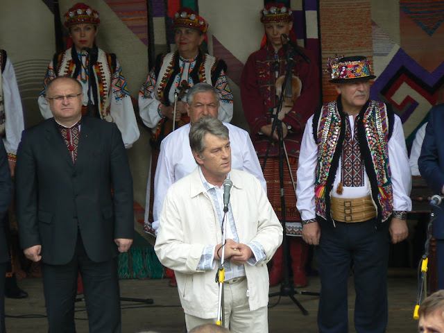 Ukrainian President Victor Yushchenko Gives Speech At Polonyna Summer 2009 Festival