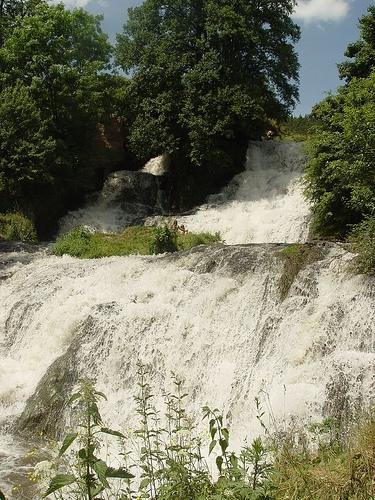Nyrkiv Dzhuryn Chervonohorod Waterfall Ternopil Oblast West Ukraine