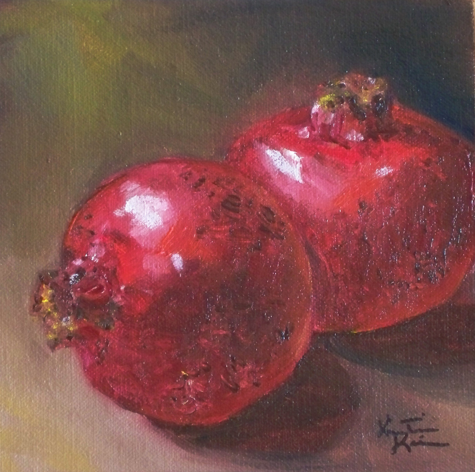 Pomegranate Oil Painting - Viewing Gallery Pomegranates