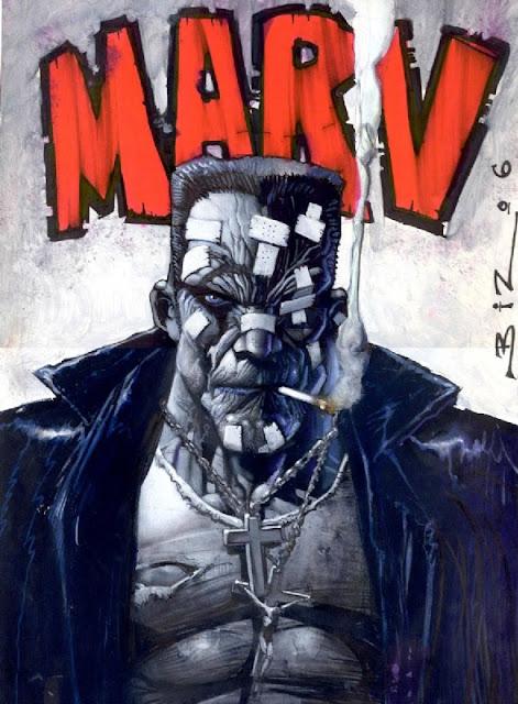 Marv badass comic book hero