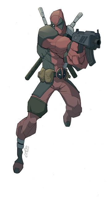 Deadpool badass comic book hero